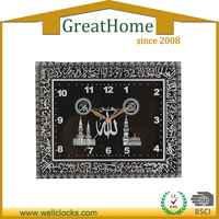 Decoration Western Style Square Religious Plastic Wall Clock