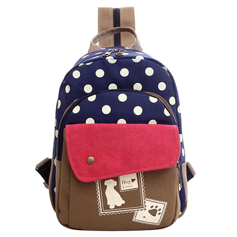 canvas girls students backpack polka dot fashion school bags children  backpacks kids orthopedic elementary schoolbag book bag.   29.88. Polka Dot  School Bag ... c75aba5cbdbb2
