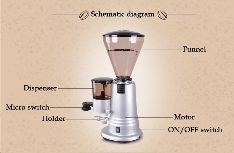 Coffee Grinder Parts ~ Burr coffee grinder parts electric bean