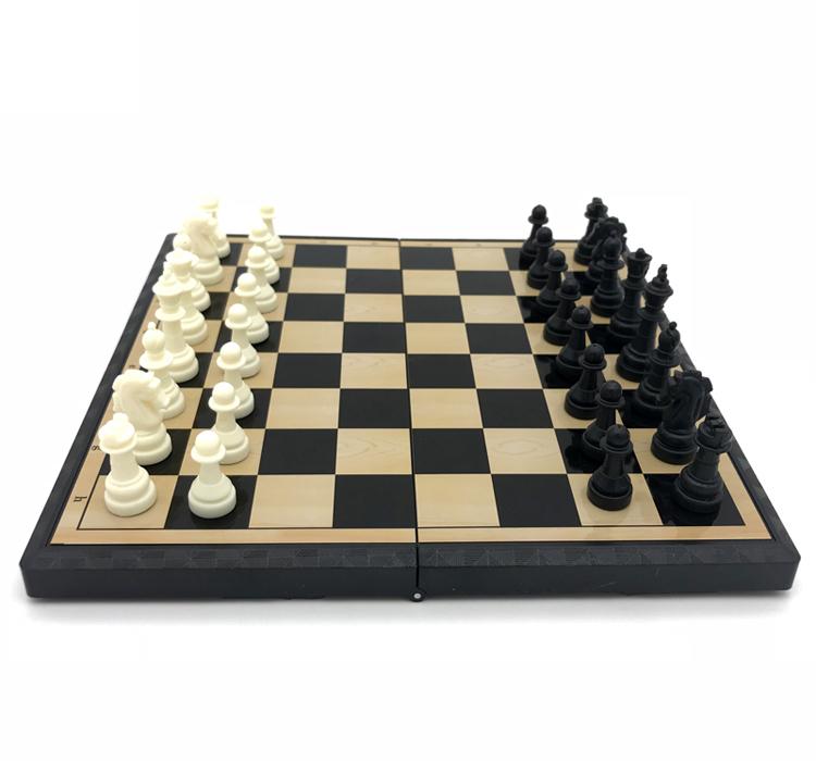 Alta qualidade xadrez magnético mini portátil plástico