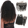 Different Types Malaysian Deep Kinky Curly Weave Hair, Ali express Online Deep Wave Peruvian Bundles With Lace Closure Frontal