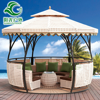 High Quality Wind Proof Round Metal Outdoor Gazebo For Sale