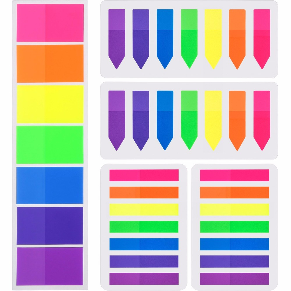 Colorful Sticky Notes Set PET Page Marker Promosi Hewan Peliharaan Kustom OEM Dicetak Plastik Lucu Sticky Notes