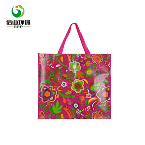 cute flower print eco friendly shopping tote certificate carry bag