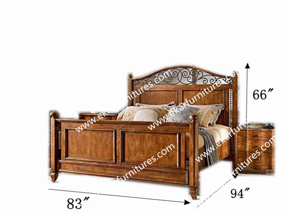 Latest Design Chinese Luxury Wooden Princess Bed