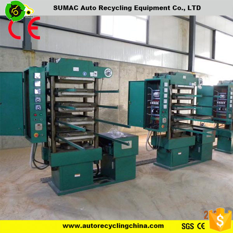 High quality rubber floor brick making machine