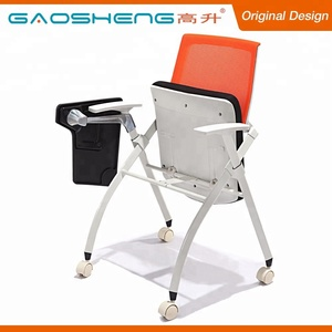 Hot Sale Classic Office Training Room Plastic Tablet Arm Chair