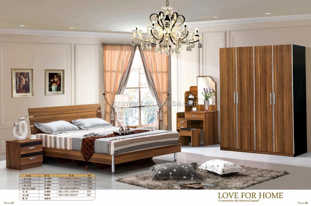 Moderno Muebles Juegos De Dormitorio Mdf Cama Y Armario - Buy ...
