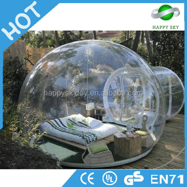 2017 Best price! igloo inflatable clear tent, inflatable clear dome tent, outdoor camping inflatable clear air dome tent
