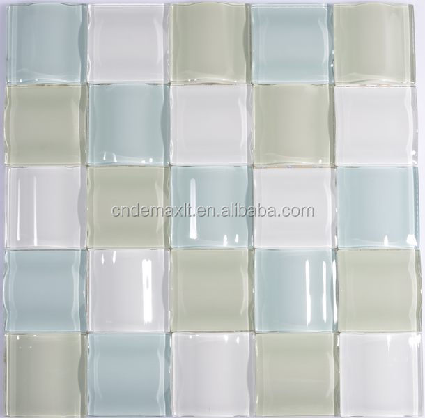 Mix Travertine and glass mosaic and china supplier new design house plan house good qulity cheap price wall