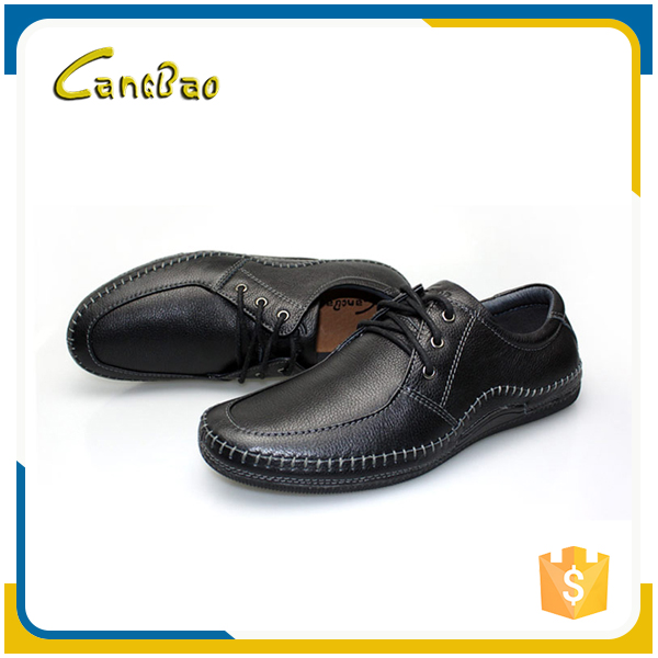 New trendy comfort flat lace-up men dress leather sole shoes