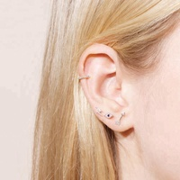 minimal delicate tiny ear studs 925 sterling silver jewelry rhodium gold plated flash lightning stud earring