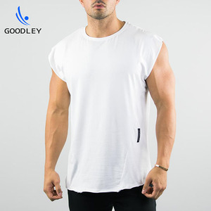 men's vintage look cap sleeves athletic running gym t shirts