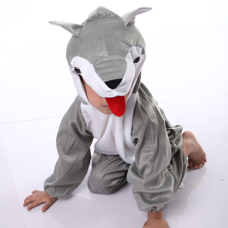 Maternelle loup mascotte costumes d'animaux chine fabricant