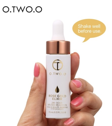 O.TWO.O Essential oil for lips and <strong>face</strong> Rose gold Elixir Primer 24K DHL