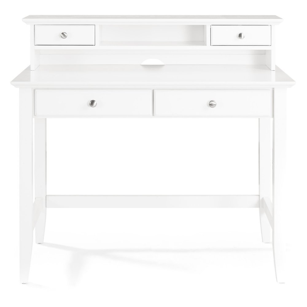 Crosley Campbell Writing Desk with Hutch in White