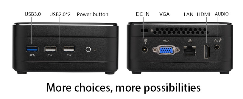 Intel micro VGA J1900 mini pc với mpci-e wifi