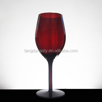 Hand Blown Red Colored Wine Glasses Wholesale Buy