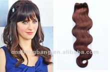 Brazilian Human Hair Body Wave 24inch coffee color 33# ,100g ,1.5m width Hair Weft Hair Extension