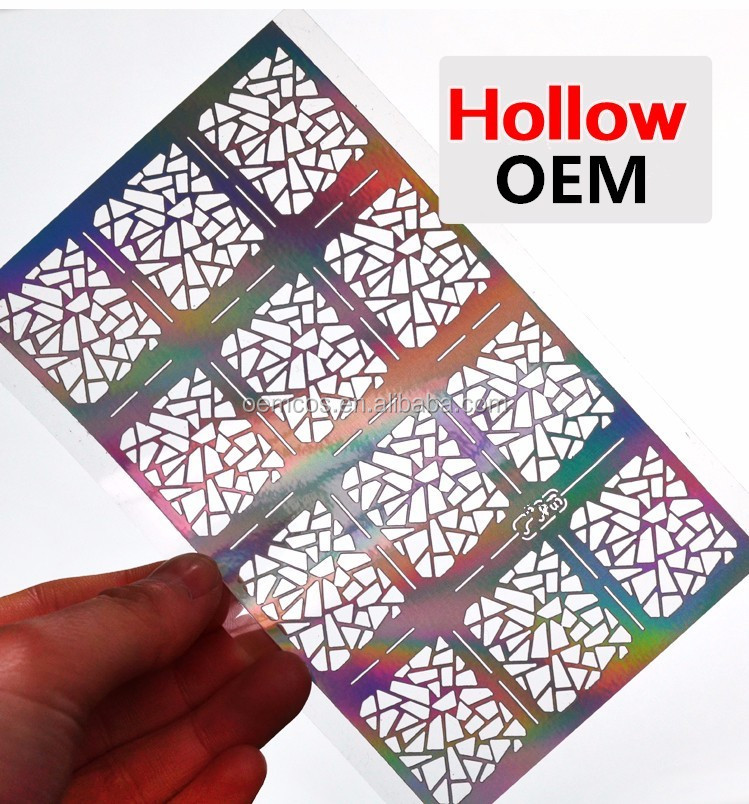 Hollow Reusable Nail Stencil Sticker For Nail - Buy 3d Nail Stickers ...