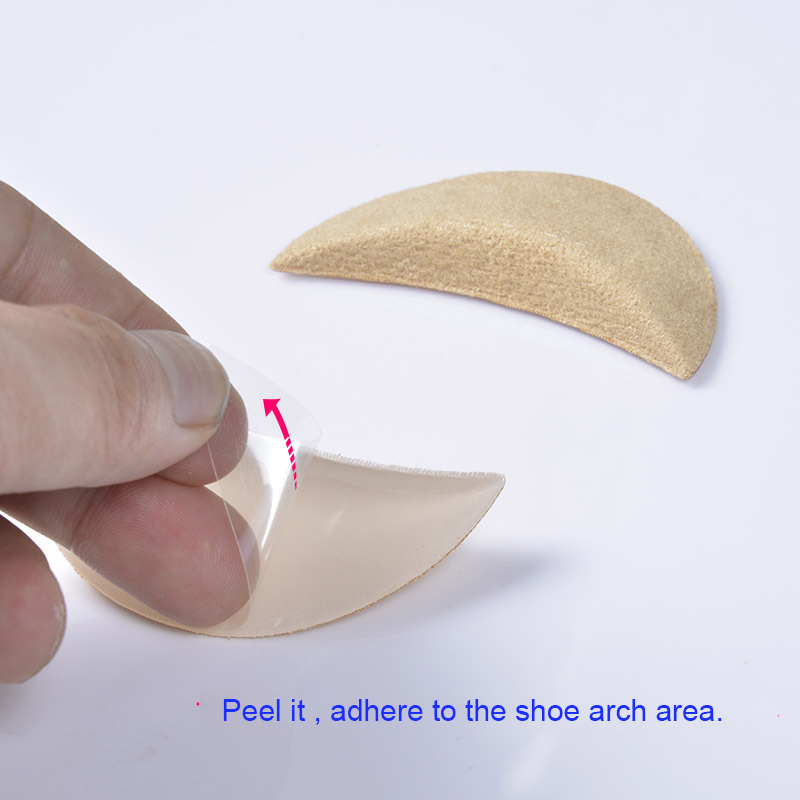 4f6f592246c Get Quotations · Arch support pad Adults Children prop soles balance arch  pain attached heel cushion High Heel Insert