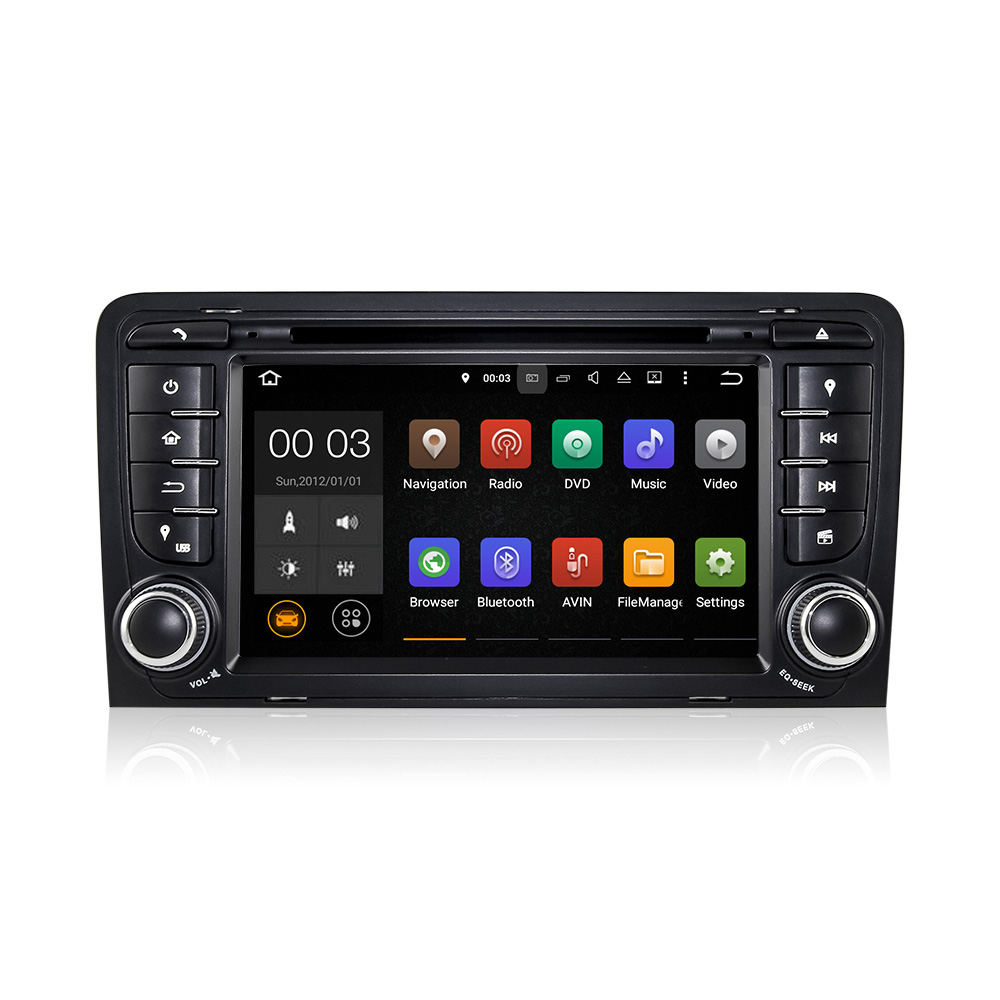Winmark <strong>Android</strong> 5.1 In-Dash Car Radio DVD GPS Player Sat Navi Quad Cord 7 Inch 2 Din For Audi A3 S3 RS3 RNSE-PU DU7047