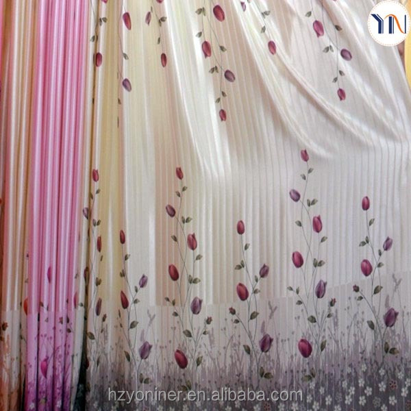 100% polyester shiny strip blackout fabric for home curtains,waterproof printed textile,fabric for curtains