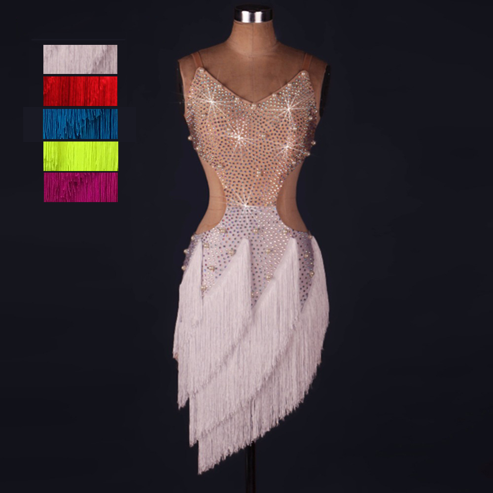 Alibaba.com / Ballroom Woman Wear Samba Competition Adult Tassel High Quality Sexy Fringe Cheap Dancing Latin Dance Dress ZH1008