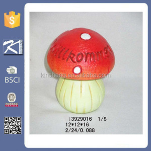 Quanzhou garden decorative ceramic mushroom for garden decoration