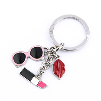 High quality anti-lost car keys, custom round shape cheap metal blank keychain for men women