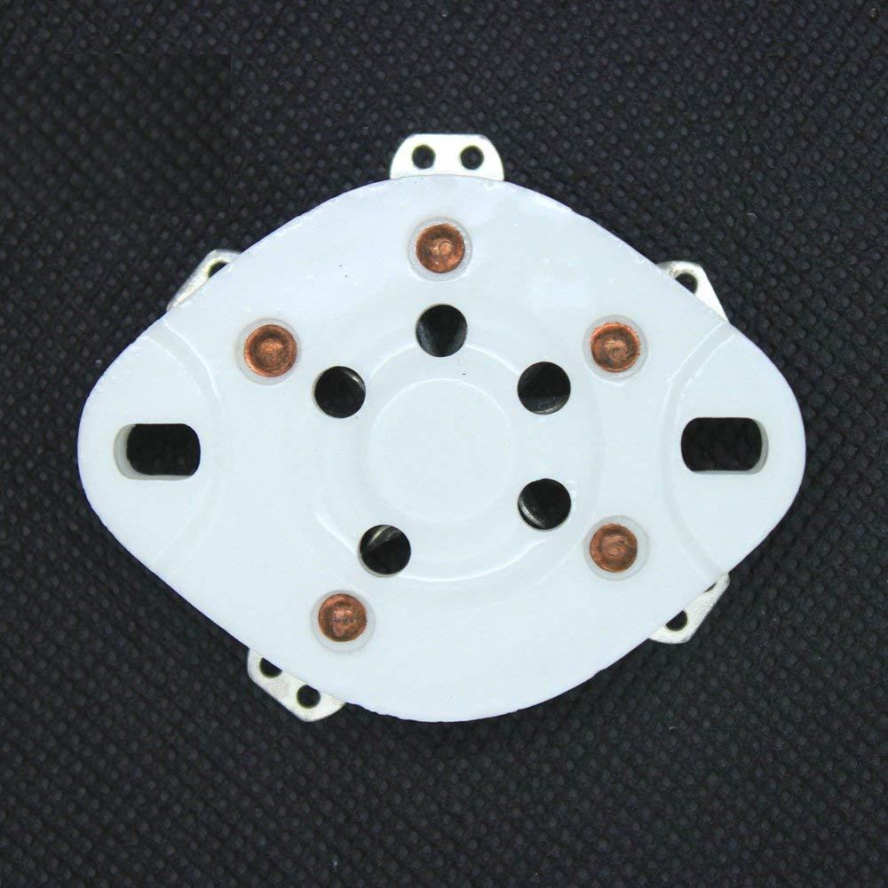 10Pcs 5pin 807 Base Ceramic Vacuum Tube Socket for 3-500Z 4-400 U5G Audio DIY