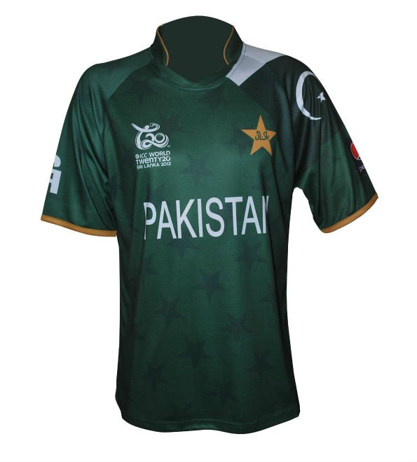 Pakistan T20 World Cup 2012 Playing Shirt