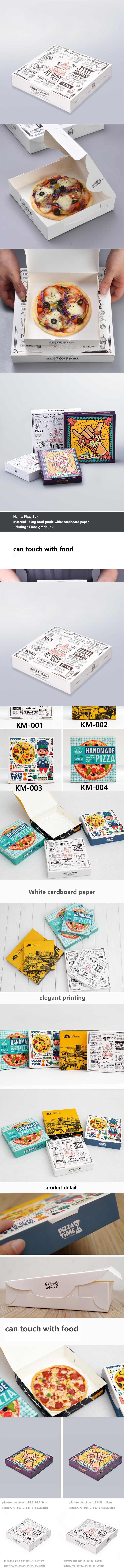 Cheap custom printed cardboard paper pizza box for sale