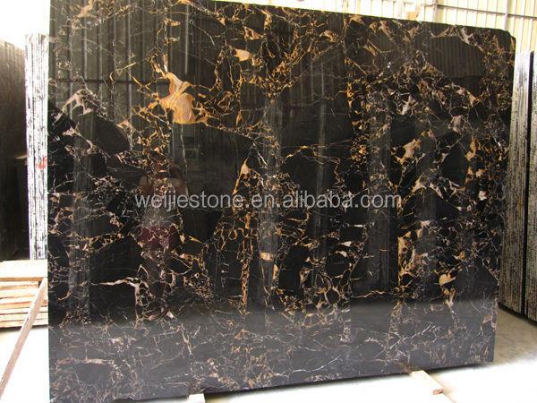 Pulido de alta m rmol negro doble oro negro portoro losa for Marmol negro precio