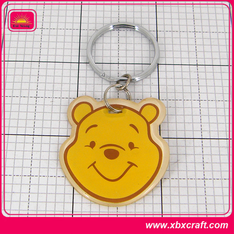funny soft cartoon characters plastic pvc key chains