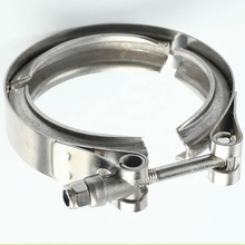 Customized turbo stainless steel heavy duty exhaust parts V-Band Clamps with flanges