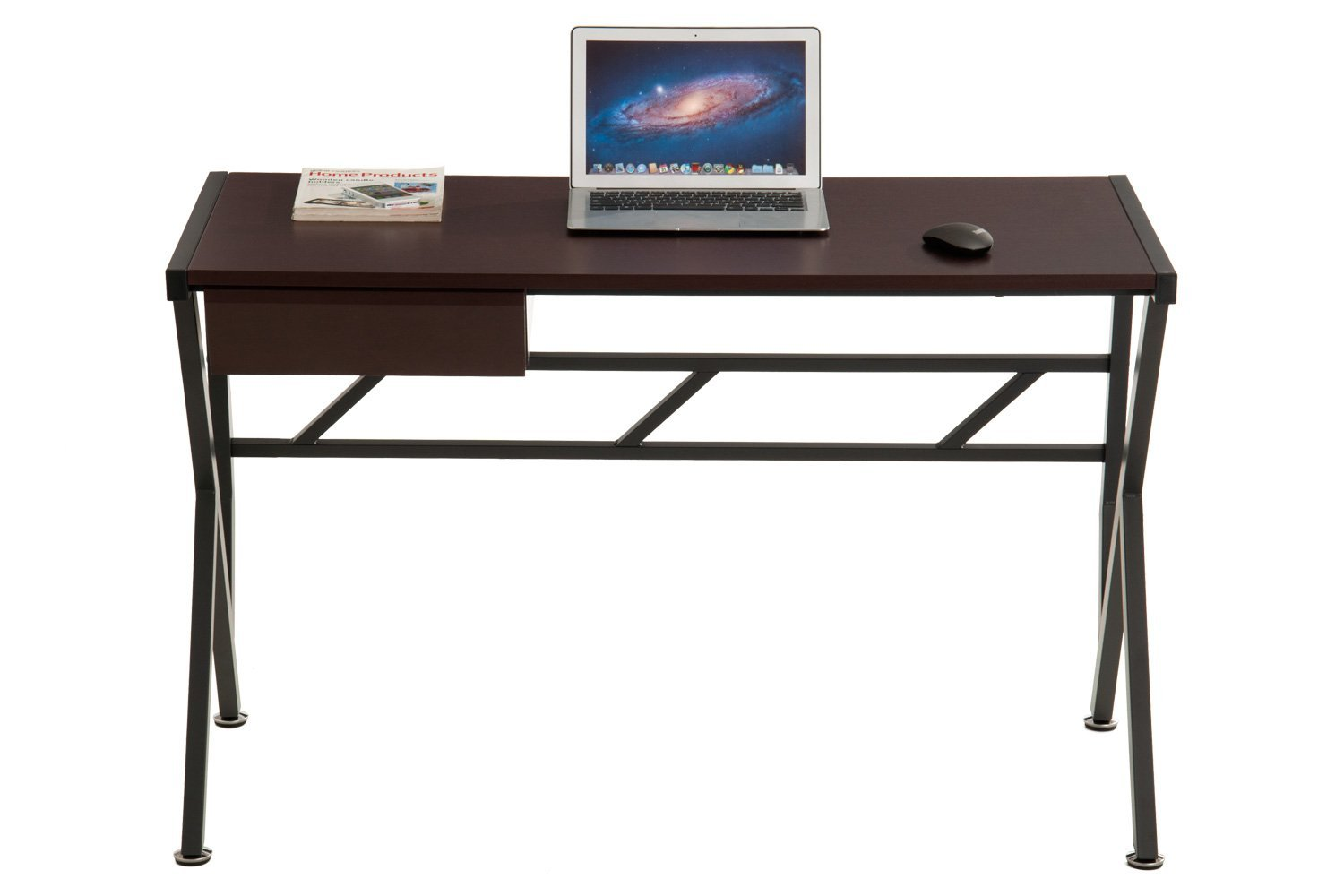ProHT Compact Office Computer Writing Desk, Small Desk with a Pullout Drawer, Computer Workstation Laptop Desk for Small Place, Durable Frame, CARB Certified (Coffee Brown 05004AAA)
