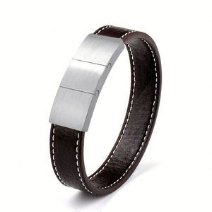 Fashion Stainless Steel Hand Bands Leather Italian Mens Bracelets
