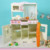 White Wooden Kitchen Toy With Cupboard, Storage, Oven And Sink, Hot Sale Wooden Kitchen Sets Toy, Interactive Role Play Toy