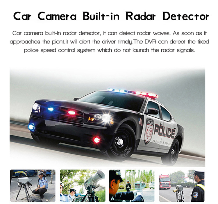 "3 in1 Car Radar Detector+DVR+GPS Tracker Recorder 2.4"" Screen Full HD 1080P Car Radar Detector Russian language"