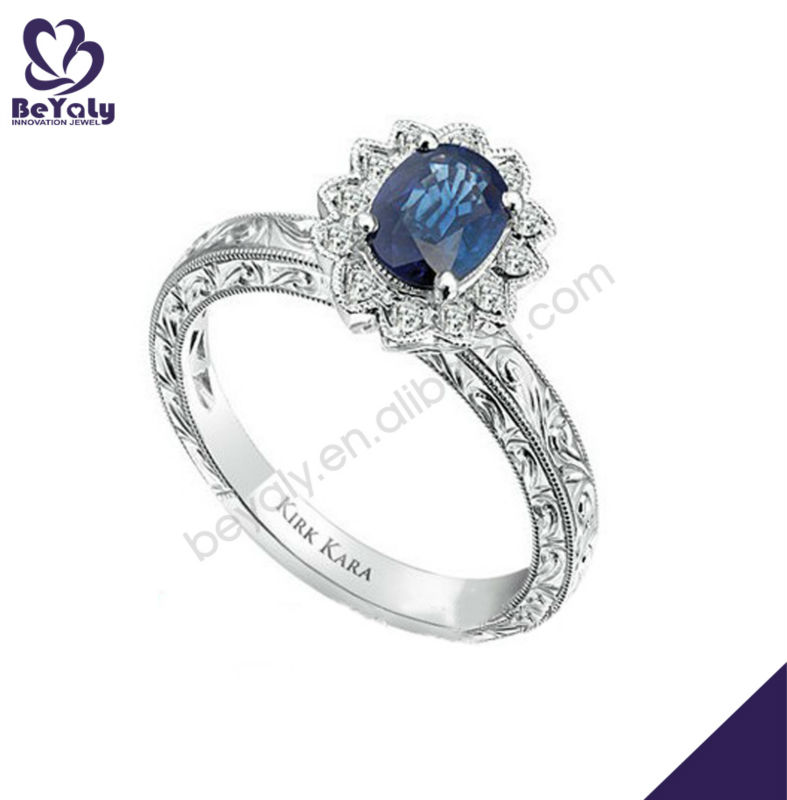 Fresh Aquamarine Color Gemstone Diamond Ring Guards