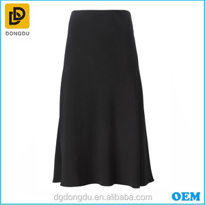 High Waisted Skirts With Pleats Long Skirt Girl A-line Black Skirt For Girls And Ladies