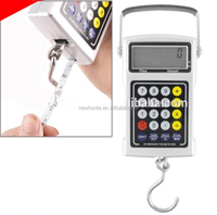 multifunction electronic fish hook 7-in-1 weighing counting hanging scale with calculator and ruler