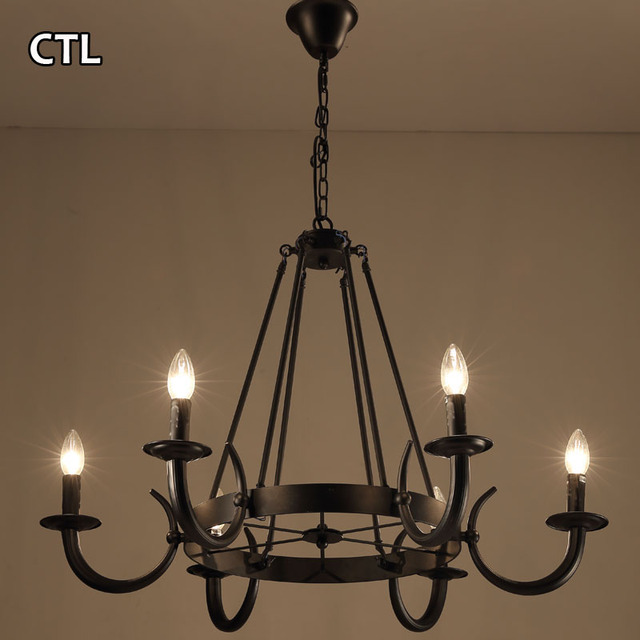 Buy cheap china black chandelier pendant light products find china american country style vintage indoor lighting lamps antique black chandelier pendant light for bedroom hotel aloadofball Images