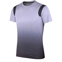 Custom Tapered Gym T Shirt Olive Fitted Short Sleeve T Shirt Soft Polyester Spandex Slim Fit Sports T Shirts
