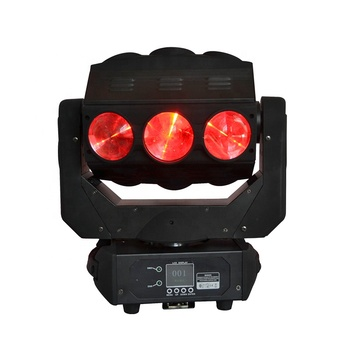 Stage Light New phantom 9pcs 12W RGBW 4in1 Sweeper beam quad led Moving Head Effect Lighting