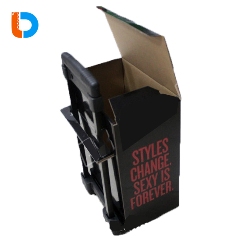 Best Sales Custom Made Retail Trade Show Small Cardboard Paper Trolley For Sales