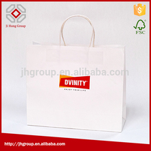 factory hot sales twisted handle kraft paper bag for shopping for sale