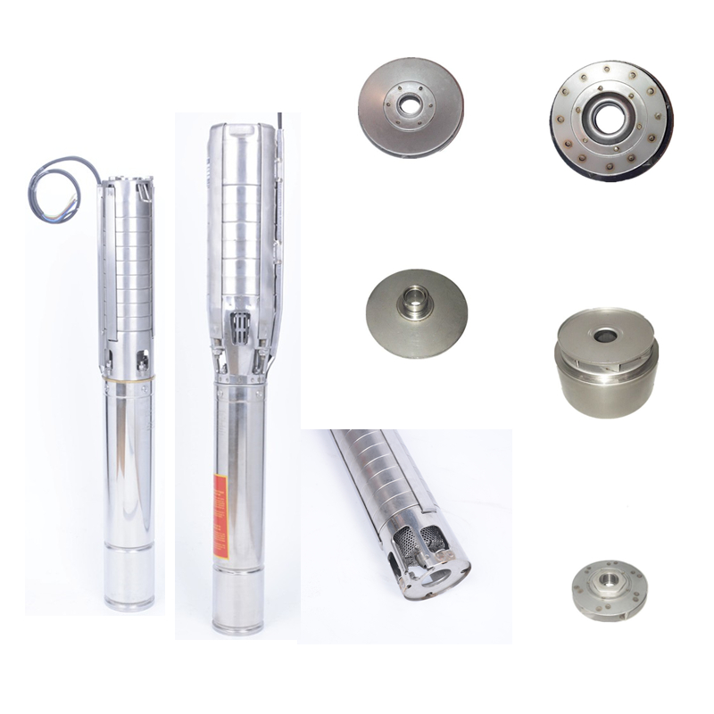 Stainless steel vertical centrifugal screw pump with Mono solar panel