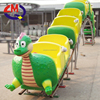 Cartoon design for kids amusement park rides children electric train track for sale